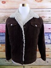 Dollhouse Brown Corduroy Lined Snap Button Women's Size Large Jacket Thick Heavy