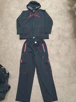 🔥NIKE AIR JORDAN BASKETBALL TRACK SUIT JACKET XXl & XL PANTS BLACK RED MENS