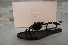 PRADA Taille 35,5 Sandales sandales Chaussures 1X654D noir neuf