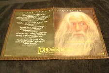 Lord Of The Rings Fellowship Of The Ring Oscar ad Gandalf & Charlotte Gray