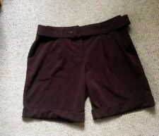 DAISY FUENTES brown cuffed Belted Shorts Sz 4