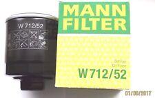 Für Audi, Seat, Skoda, VW Golf & Polo Mann Filter W712/52 / Original