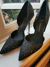 Black Glitter High Heel Shoes - Sz 6 - BN