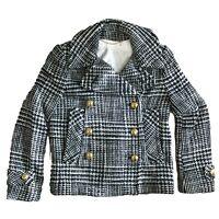 Coach 82796 Women's Double Breasted Virgin Wool EMNLLE Novelty Peacoat Jacket