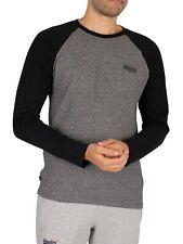 Superdry Men's Baseball Longsleeved T-Shirt, Black