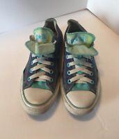 Chuck Taylor Converse All Star Women's Size 7 Blue Denim  Sneakers ~Fire ~