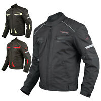 Ladies Textile Jacket sport Racing CE Armour Thermal Vents Motorcycle Black XS
