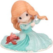$ New PRECIOUS MOMENTS Disney Porcelain Figurine LITTLE MERMAID ARIEL SEBASTIAN