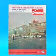 Der Deutsche Straßenverkehr 12/1969 DDR Trabant Wartburg Saporoshez IFA G