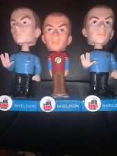 The Big Bang Theory Funko Wacky Wobbler Bobbleheads. Sheldon Cooper Flash Spock