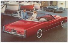 Cadillac Eldorado Convertible for 1976 original USA issued Postcard