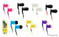 3.5 InEar Earphone Headphone Earbud Headset Flat Cable for MP3 iPhone5 5C 6S PSP