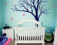 Nursery Wall Tree Decal with Flying Birds and Leaves, Nursery Decor - KR001_2