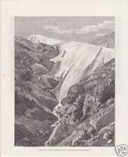 Rheinwaldgletscher Hinterrhein Quelle HOLZSTICH um 1880