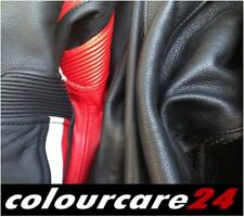 Rinnova Colore Tuta Pelle Yamaha Moto Ritocco NERO Giacca Rinnovo Pantaloni
