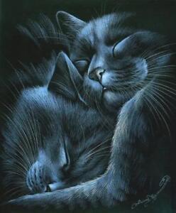 Sleepy Kingdom Cat Print by I Garmashova