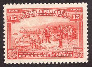 Sc 102 -  Canada - 1908 - 15 Cent -  MH F/VF *blem -  superfleas - cv$235