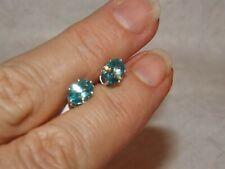Apatite, Blue, Sterling Silver Earrings