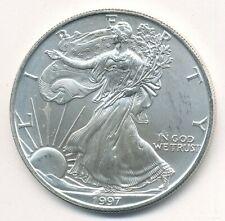1997 AMERICAN SILVER EAGLE 1 OZ COIN EXACT SHOWN
