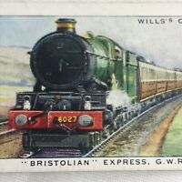 Locomotive train Bristolian Express Wills Cigarette Tobacco Card Vintage 1930s