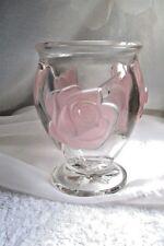 Lovely Rose Art Glass Vase France Decor For Medium Stemmed Flowers Excell. Cond.