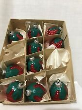 Box Of 10 Inge Glass Old World Blown Strawberry Ornaments