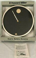 HOWARD MILLER Quartz Wall Clock Black Dial Vintage Brand New with Original Box