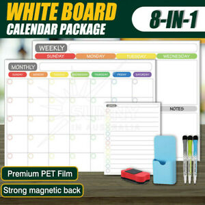 A3 Magnetic Dry Erase Calendar Fridge Whiteboard Monthly Weekly Daily Planner