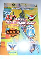 Match Programme BASKET 41 Torneo Sant Ambrogio Pozzecco Viola Orlandina Matera
