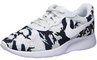Nike Tanjun Print 820201 010 Womens Shoes Running Sneakers Grey Blue Mesh
