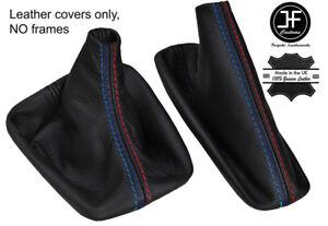BLACK STITCH LEATHER SHIFT & E BRAKE BOOTS FOR BMW E36 E46 M3 91-05 M/// STYLE