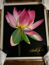 Scott Jacobs Painting (Lotus ) Giclee on Canvas Hand Signed & Framed #400/450