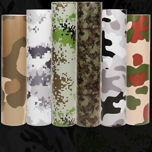 Camouflage Camo Vinyl Wrap Bubble Free & UV protected 6 DESIGNS ALL SIZES