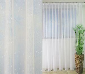 Exklusive Gardine Store Weiß Effekt-Streifen 3-Faltenband 1:2 Bleiband NACH MAß