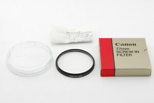 *Unused In Box & Case* Canon 77mm SCREW-IN FILTER From Japan F/S 296