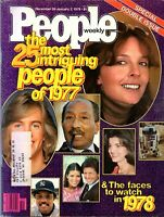 People Magazine Most Intriguing of 1977 January 2, 1978 Issue with label