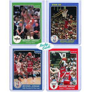 SET OF 4! 1985 STAR Michael Jordan Rookie ACEO Cards Dunk Gatorade Bulls MJ 23