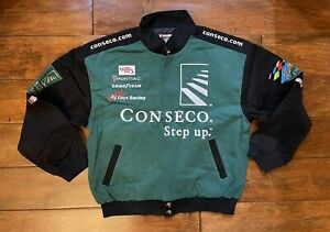 Ron Hornaday Jr #14 Conseco Racing Race Jacket Mens Size Large NASCAR Wateree