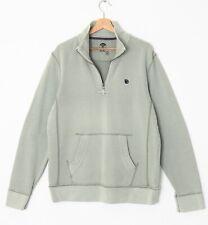 Fat Face Men's M Natural Grey Zip Neck 100% Cotton Sweatshirt Casual Top