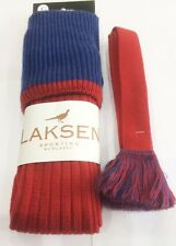 Laksen Wellington Shooting Socks Medium Brick Red/azure Blue