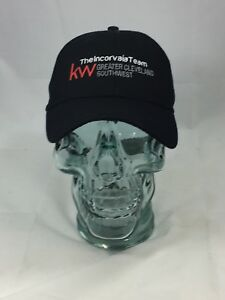 Black KW The Incorvaia Team Cleveland Ohio Adjustable Hat Baseball Cap