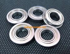 (4 PCS) F6704zz (20x27x4 mm) Chrome Flanged Metal Shielded Ball Bearings 20*27*4