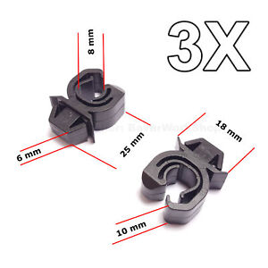 3X Engine Bonnet Support Rod Clips for Opel, Vauxhall, GM, Mitsubishi