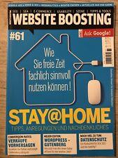 "Website Boosting 05-06 2020  #61 ""stay Home"" Tips Tools Neuwertig"