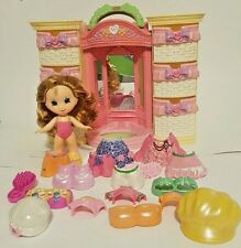 Fisher Price Snap N Style Dolls Clothing Clothes Light Up Wardrobe Closet Lot