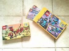 Lego Creator 3 In 1 Bundle 31062 31073 Robot Dragon Ages 7-12 Blue Burgundy