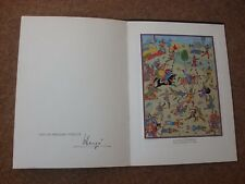 Studio Herge Christmas Card (Carte De Voeux) 1977 signed by Herge - rare.