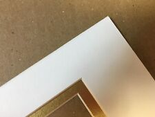 Picture Mat for framing White with gold liner 5x7 for 2.5x3.5 art Aceo cards