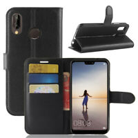 For Huawei P20 Lite Flip Wallet Slot Soft Case/Cover/Card Holder Kickstand Pouch