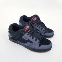 DVS Enduro 125 Skate Shoes Mens Size 7 Black Gray Red Enduro Skateboarding